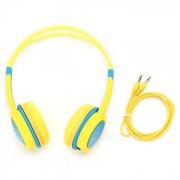 DM-2760 auriculares para la cabeza - amarillo + azul