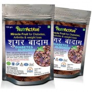 NutrActive Unpleed Sky Fruit Seed Anti Diabetes Natural Seed Kadwa Badam Sugar Badam - 150gm (Pack of 2)