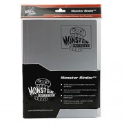 Monster Binder 9 Pocket Trading Card Album Matte Gunmetal Steel Grey (Anti Theft Pockets Hold 360+ Yugioh, Pokemon, Magic The Gathering Cards)
