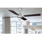 Ventilador techo cromo palas reversibles 50439 we