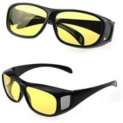 HD Wrap Night Vision Real Club Night View Quality Based Glasses In Best Price By Popularkart Pack of 1 (AS PER SEEN ON TV)