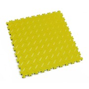 Žlutá plastová vinylová dlaždice Light 2050 (diamant), Fortelock - délka 51 cm, šířka 51 cm a výška 0,7 cm