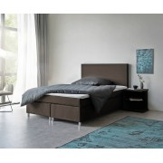 DELIFE Boxspring-bed cloud 140x200 cm bruin topper en matras