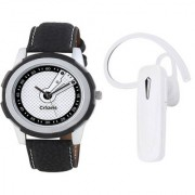 Crazeis Bluetooth Handset and watch Combo compatible for Oppo Vivo Smasung Motorola LG Huawei Gionee ASUS Panasonic Micromax and Many more. Bluetooth Headset with Mic (White In the Ear)