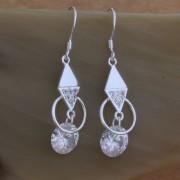 Cercei lungi cu cristale argint Eighty-seven