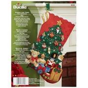 Bucilla 86303 Juego Apliques de Fieltro para calcetín de Navidad (45.7 cm) Under The Tree