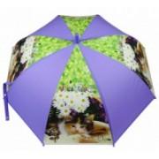 Deštník dětský holový vystřelovací kočka fialový 9149-11 9149-11