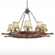 Impressive Porto chandelier eight-bulb