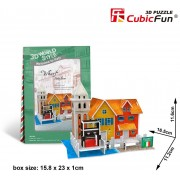 Puzzle 3D Cubic Fun - World Style - Welcome to Italy, 19 piese (Cubic-Fun-W3114H)