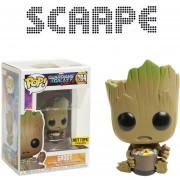 Funko Pop Baby Groot With Candy Hot Topic Sticker Exclusivo Marvel