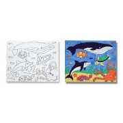 Melissa and Doug Canvas Creations Sea Life, Multi Color