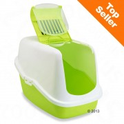 Savic Nestor тоалетна за котки от пластмаса - цвят: светлосив / бял