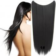 Flip in vlasy - 60 cm dlouhý pás vlasů - odstín 1# - Světové Zboží