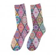 Mr. Gugu & Miss Go Stained Glass Unisex Midi Socks SOM1066
