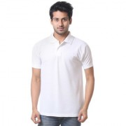 Calibro Mens White Polo Neck T-shirt