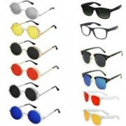alience Wayfarer, Round, Clubmaster Sunglasses(Red, Black, Clear, Yellow, Blue, Silver)