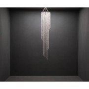 DELIFE Hanglamp Big-Strass 30x175 cm transparant