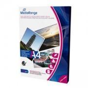 Фото хартия MediaRange DIN A4 за мастиленоструйни принтери, двустранно матово покритие, 250 g, 50 листа, MRINK112