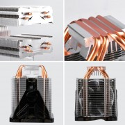 CPU Cooler Ultra Quiet Excellent Heat Pipes Ventilador Para PC - Negro