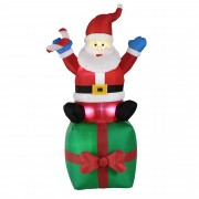 [en.casa] Надуваем, седящ върху подарък Дядо Мраз