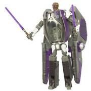 Star Wars Transformers Mace Windu & Episode 3 Jedi Starfighter