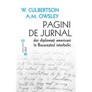Pagini de jurnal. Doi diplomati americani in Bucurestiul interbelic