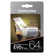 Samsung Evo MicroSDXC 64GB MP64GA Class 10 UHS-I U3