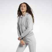 Reebok Training Essentials Logo Hoodie - Medium Grey Heather - Size: Extra Small
