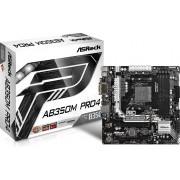 MB ASRock AB350M PRO4, AM4, micro ATX, 4x DDR4, AMD B350, S3 4x, M2 SATA/PCIe x2, VGA, DVI-D, HDMI, 36mj