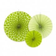 Körlegyező papír 23,32,40cm alma zöld (3 db/szett)