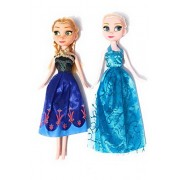 FSS-Frozen Pair of Elsa and Anna Doll (Height 24 cm)