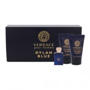 Versace Pour Homme Dylan Blue 5Ml Edt 5 Ml + Shower Gel 25 Ml + Aftershave Balm 25 Ml Per Uomo (Eau De Toilette)