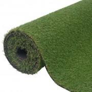 vidaXL Relva artificial 1,5x5 m/20-25 mm verde