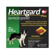 Heartgard Plus Chewables For Medium Dogs 26-50lbs (Green) 12 Doses