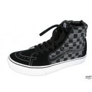 magasszárú cipő női - VANS - Black/Pewter Checkerboard