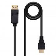 Nanocable Cabo Conversor DisplayPort para HDMI Preto 5m