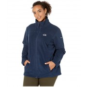Columbia College Plus Size Penn State Nittany Lions CLG Give and Gotrade II Full Zip Fleece Jacket Collegiate Navy