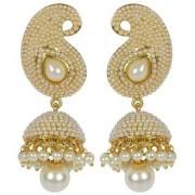 Jewels Gold Alloy Party Wear Fashion Designer Latest Stylish Jhumki Earring Set For Women Girls