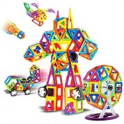 Magnetic Blocks Tiles for Kids,115 pcs Children 3D DIY Educational Toys Set Building Block Models Kit for Toddlers Baby Girls Boys Halloween Christmas Gifts Learning Toys