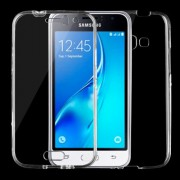 Samsung Galaxy J1 (2016) Case, J120 Case, 0.75mm Double-sided Ultra-thin Transparent TPU Protective Case (Transparent)