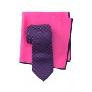 Ted Baker London Silk Flower Link Tie Pocket Square Set PINK