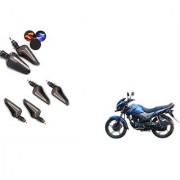 KunjZone Latest Drl Indicator Set Of 04 Yellow&Blue For Honda CB Unicorn