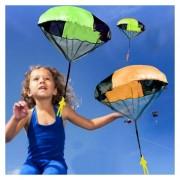 Mano Lanzando Mini Juego Paracaidas Paracaidista Juegos Al Aire Libre Los Niños Juguetes Educativos Con La Figura De Soldado Para Niños, Color Al Azar Entrega