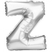 Stylewell 16 Inch Alphabet (Z) Soild (Silver) Color 3D Foil Balloons For Birthday And Anniversary Parties Decoration