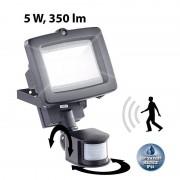 Luminea LED-Fluter für den Aussenbereich, 5 Watt, 350 Lumen, PIR-Sensor, IP44