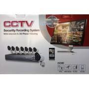 8 kamerás kül-és beltéri vezetékes AHD kamerarendszer