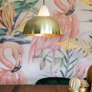 QAZQA Nowoczesna lampa wisząca mosiądz i marmur - Albasta Bowl