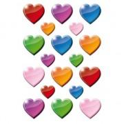 Geen 162x Gekleurde hartjes figuren stickers