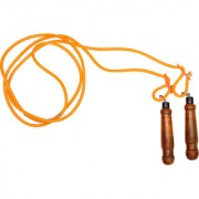 SVR Skipping Rope in Orange for Adults - Pack of 1 Standard Size Solid Rope With Polish Handle
