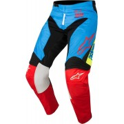 Alpinestars Pantaloni Moto Cross 2018 Racer Supermatic Aqua Black Red
